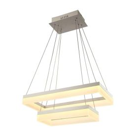 Alcon 12273-2 Rectangle Architectural LED 2 Tier Chandelier