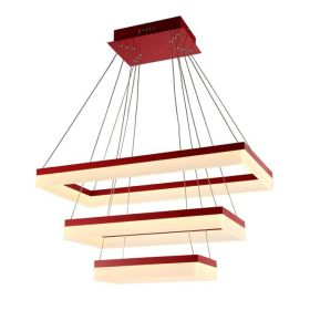 Alcon 12273-3 Rectangle Architectural LED 3 Tier Chandelier