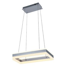 Alcon 12274-1 Rectangle Architectural LED 1 Tier Chandelier