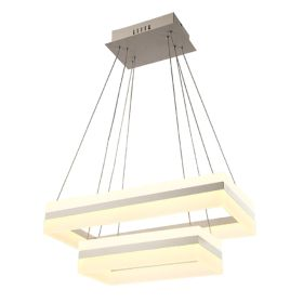 Alcon 12274-2 Rectangle Architectural LED 2 Tier Chandelier