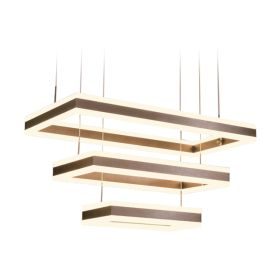 Alcon 12274-3 Rectangle Architectural LED 3 Tier Chandelier