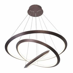 Alcon 12279-3 Redondo Suspended Architectural LED 3 Tier Ring Chandelier