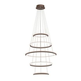 Alcon 12279-5 Redondo Suspended Architectural LED 5 Tier Ring Chandelier