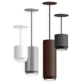Alcon 12302-P-TGS Cylindrical Anti-Glare Shroud LED Pendant Light