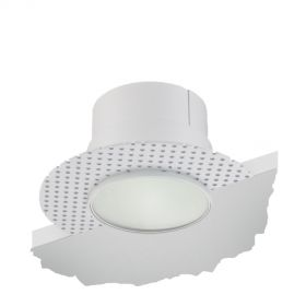 Alcon 14013-L Illusione 4-Inch LED Frosted-Lens Recessed Light