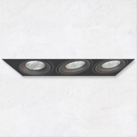Alcon 14026-3 Oculare 3-Head Trimless Adjustable LED Recessed Light