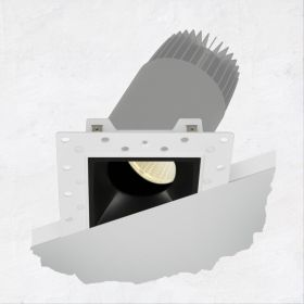 Alcon 14073-ADJ Illusione 2.5-Inch Architectural LED Adjustable Square Recessed Light