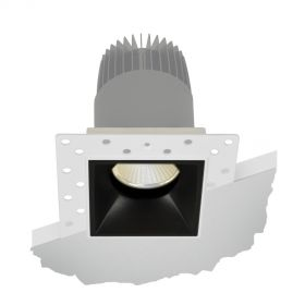 Alcon Lighting 14073-DIR Illusione 2.5 Inch Architectural LED Square Trimless Recessed Fixed Direct Down Light Fixture