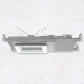 Alcon 14077 5-Inch Square Architectural IC LED Super Shallow Recessed Light