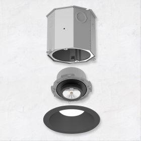 Alcon 14105-4-ADJ 4-Inch Recessed LED Adjustable Concrete Ceiling Light