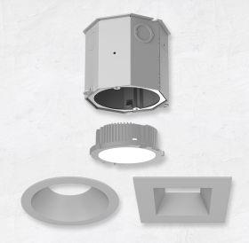 Alcon 14105-4-DIR 4-Inch Recessed LED Concrete Ceiling Light