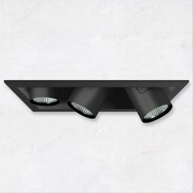 Alcon 14113-3 Oculare Architectural LED Adjustable 3-Head Pull-Down Fixture