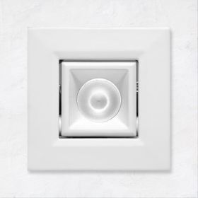 Alcon 14142-S-ADJ Recessed 1-Inch Miniature Square Adjustable Outdoor LED Light