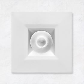 Alcon 14142-S-DIR Recessed 1-Inch Miniature Fixed-Square LED Downlight