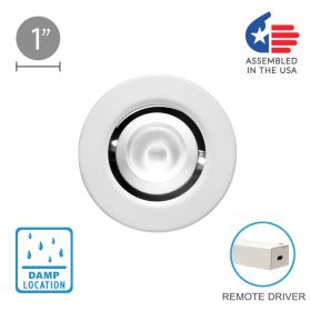 Alcon 14142-R-ADJ Recessed 1-Inch Round Adjustable Outdoor LED Light