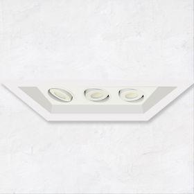 Alcon 14300-3 Oculare 3-Head Multiple Flanged Adjustable LED Recessed Light