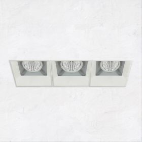 Alcon 14310-3 Oculare LED Architectural 3-Head Multiple Recessed Lighting System Fixture
