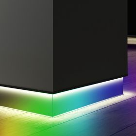 Alcon 15244-RGBW 4-Inch Angled LED Color-Changing Toe Kick Baseboard Light