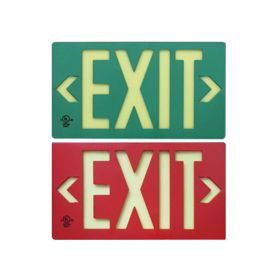 Alcon Lighting 16117 Photoluminescent LED Exit Sign