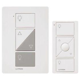 Lutron Caseta P-PKG1P-WH Caseta Wireless 300-watt/100-watt Plug-In Lamp Dimmer with Pico Remote Control Kit, White