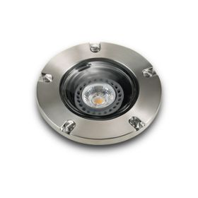 Alcon Lighting 9026-SS Harper Architectural Landscape LED Low Voltage In-Ground Drive-Over Rated Marine Grade Stainless Steel Well Light