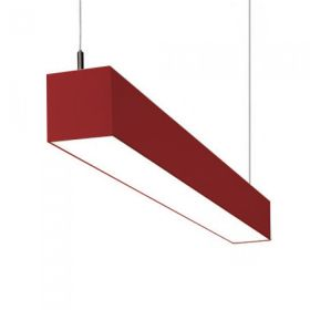 Alcon Lighting IL MODO 12110 Series LED Suspended Linear Pendant LED Architectural Light Fixture - Red