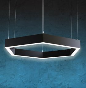 Alcon 12132 Hexagon LED Direct Pendant Light