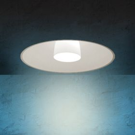 Alcon Lighting 14020 Bunbury Series Semi-Recessed 21 Inch LED Handblown Opal Glass Downlight
