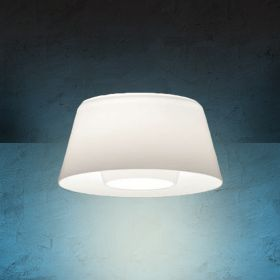Alcon Lighting 14021 Bunbury Series Semi-Recessed 10 Inch LED Handblown Opal Glass Downlight