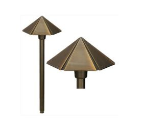Alcon Lighting 9073 Washington Solid Brass Low Voltage LED Architectural Landscape Path Light Fixture