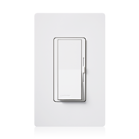 Lutron Diva DVSTV-WH 0-10V Dimmer Switch Single-Pole/ 3-Way 120-277V White (50mA Max)