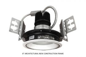 Alcon Lighting 14132-8 Mirage Architectural and Commercial LED New Construction Frame Recessed Down Light - 8""