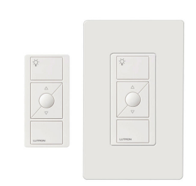 Lutron Caseta P-PKG1W-WH In-Wall Dimmer and Pico Remote