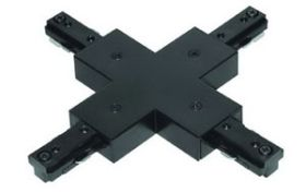 Alcon Two Circuit 13000-X-2 Universal X-Connector for LED Track Light