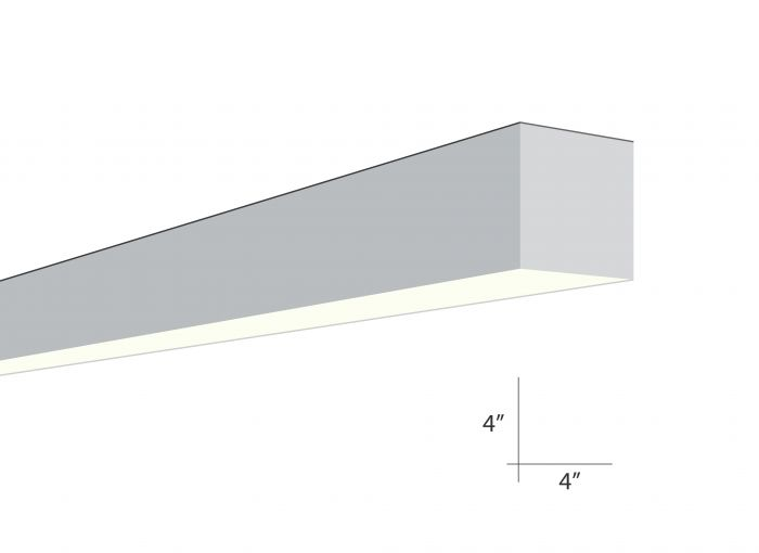 Image 1 of Alcon Lighting Beam 44 Series 6016-4 Architectural 4 Foot Surface Linear Fluorescent Ceiling Light Fixture
