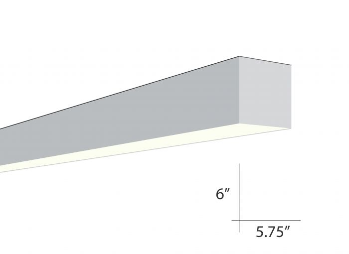 Image 1 of Alcon Lighting Beam 66 Series 6019-8 Architectural 8 Foot Surface Linear Fluorescent Ceiling Light Fixture