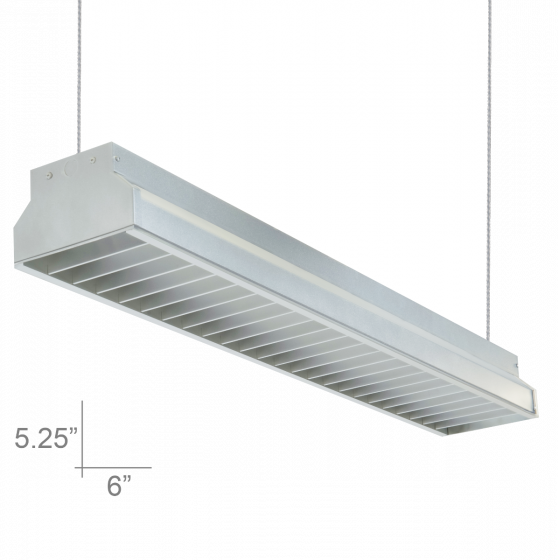 Image 1 of Alcon Lighting 12102-4 Argyle Series Architectural LED 4 Foot Suspended Pendant Mount Commercial Direct Light Strip