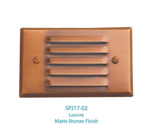 Image 1 of SPJ Lighting Forever Bright SPJ17-02 LED Recessed Step Light Cover - Louvre