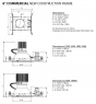 """Alcon Lighting 14130-8 Mirage Architectural and Commercial LED New Construction Frame Recessed Down Light - 8"""""""