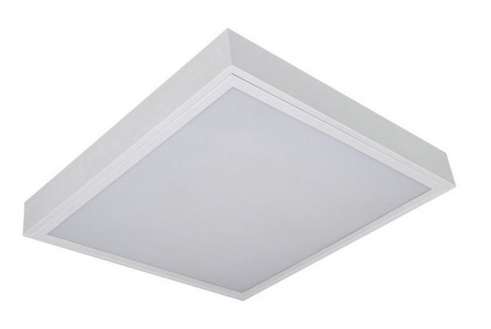 Alcon Lighting 11151 Prisma Architectural LED 2x2 Surface Mount Shallow Shroud and LED Flat Panel Box
