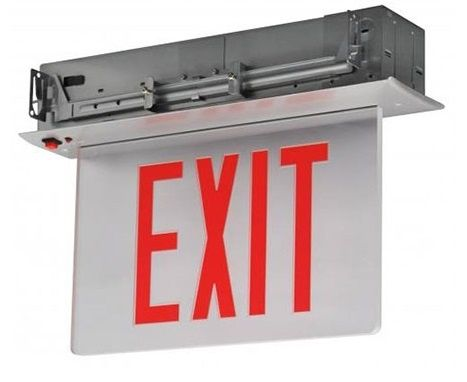 Alcon Lighting 16105 EMEXED Architectural LED Recessed Aluminum Edgelit Emergency Exit Sign
