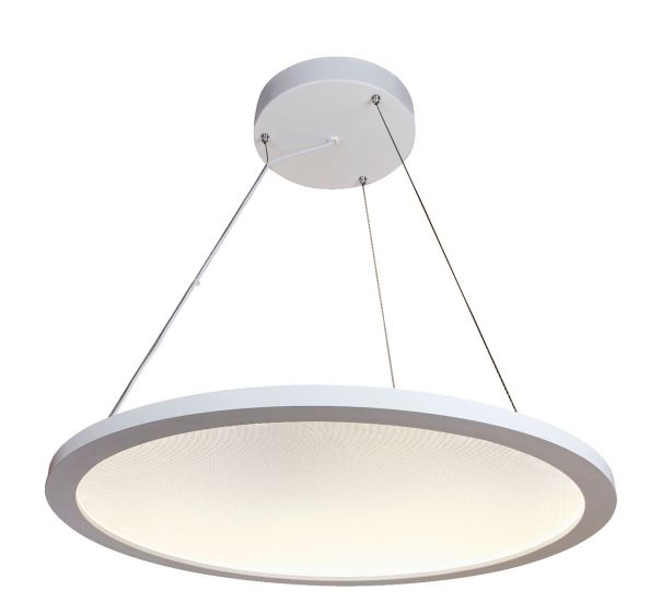 Image 1 of Alcon Lighting 12290 Disk Architectural LED Direct/Indirect Round Suspension Light - 2 Foot