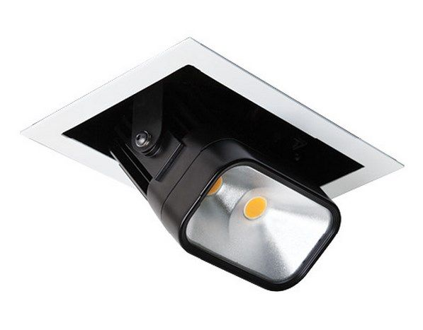 Image 1 of Intense Lighting ICL-MBW2 MBW2 LED Square Adjustable Pull Down Downlight Recessed Light + Trim + Housing