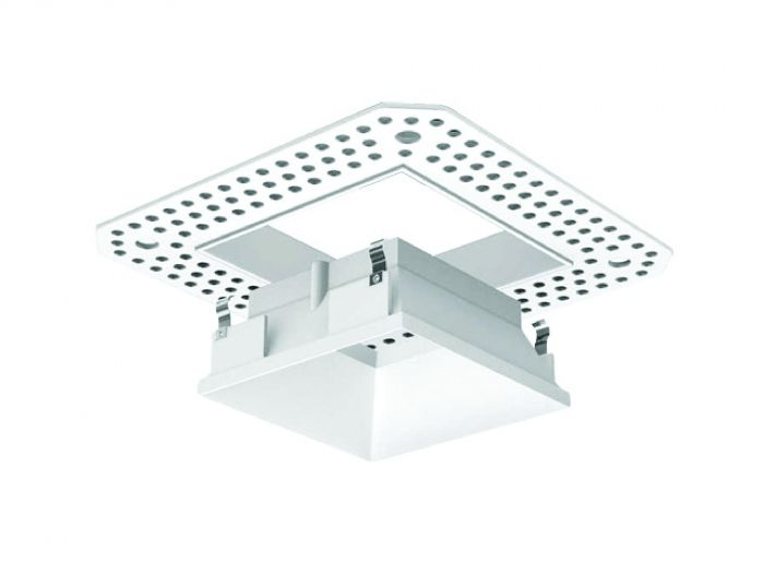 Alcon Lighting 14006-2 Illusione 3 Inch Architectural LED Square Trimless Open Reflector Recessed Down Light Fixture