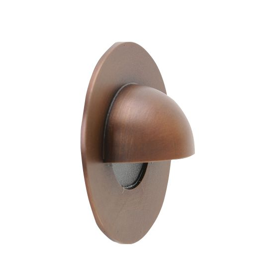 Image 1 of SPJ Lighting Forever Bright SPJ-GDG-3EB Outdoor LED Brass Recessed Step Light - Matte Bronze Finish