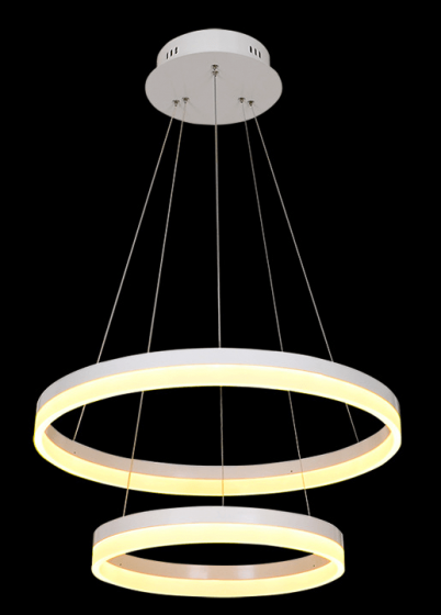 Image 1 of Alcon Lighting 12272-2 Redondo Architectural LED 2 Tier Ring Direct Downlight Chandelier Light