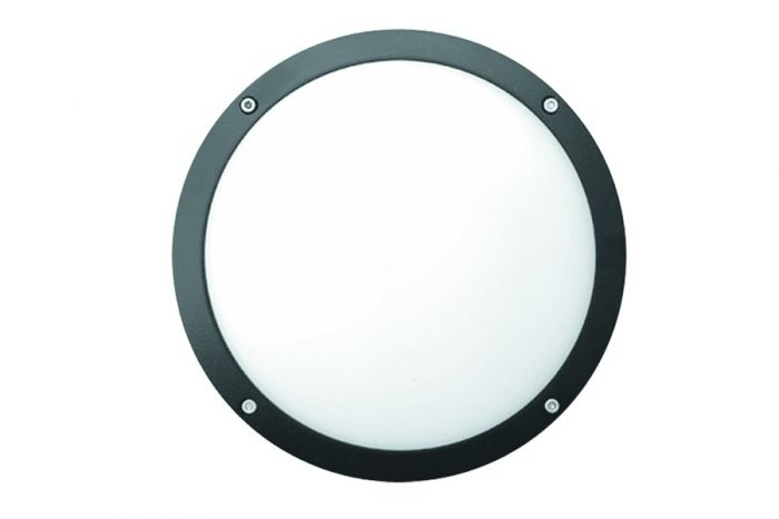 Alcon Lighting 11233 Spartan Architectural LED 14 Inch Tamper Proof Round Recessed Mount Wall Sconce Diffused Luminaire