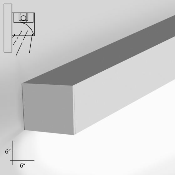 Alcon Lighting 12100-66-W-WW Continuum 66 Series Architectural LED Linear Wall Mount Wall Wash Fixture