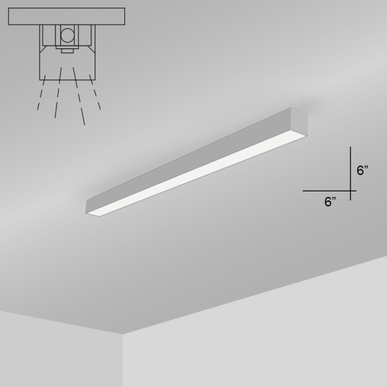 Alcon Lighting 12200-6-S RFT Series Architectural LED Linear Surface Mount Direct Light Fixture