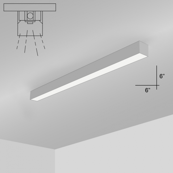 Alcon Lighting 11139-4-S i66 Series Architectural LED 4 Foot Linear Surface Mount Direct Light Fixture